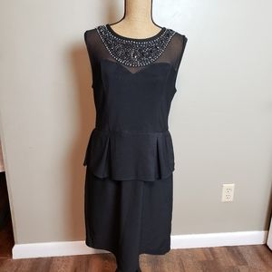 B.Smart evening/Cocktail Dress blk with sheer top